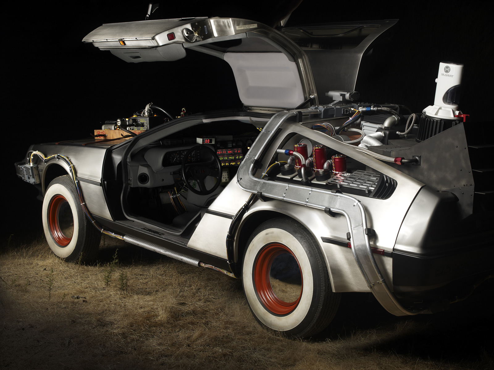 of Original Movie Prop DeLorean from ?Back to the Future