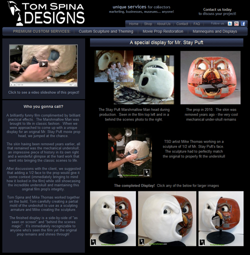 "Tom Spina Designs ""Stay Puft Marshmellow Man"" Ghostbusters Prop Display Fuses Innovation and Style"