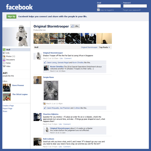Facebook Hosts Ongoing Public Debate Over Original Sculptor Credit for Star Wars Stormtrooper (Andrew Ainsworth or Liz Moore & Brian Muir)
