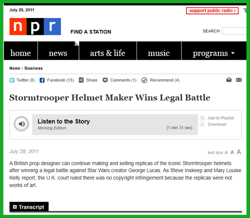 Lucasfilm vs Ainsworth UK Supreme Court Ruling: The Mainstream Media Interviews Andrew Ainsworth