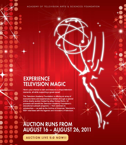 Primetime Emmy Season Online Auction Benefits Television Academy Foundation's Education Programs