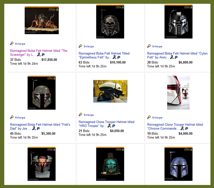 """Last Day To Bid On """"As You Wish Helmet Project"""" Charity Auction Featuring Reimagined 'Star Wars' Movie Prop Helmets, Benefiting Make-A-Wish"""
