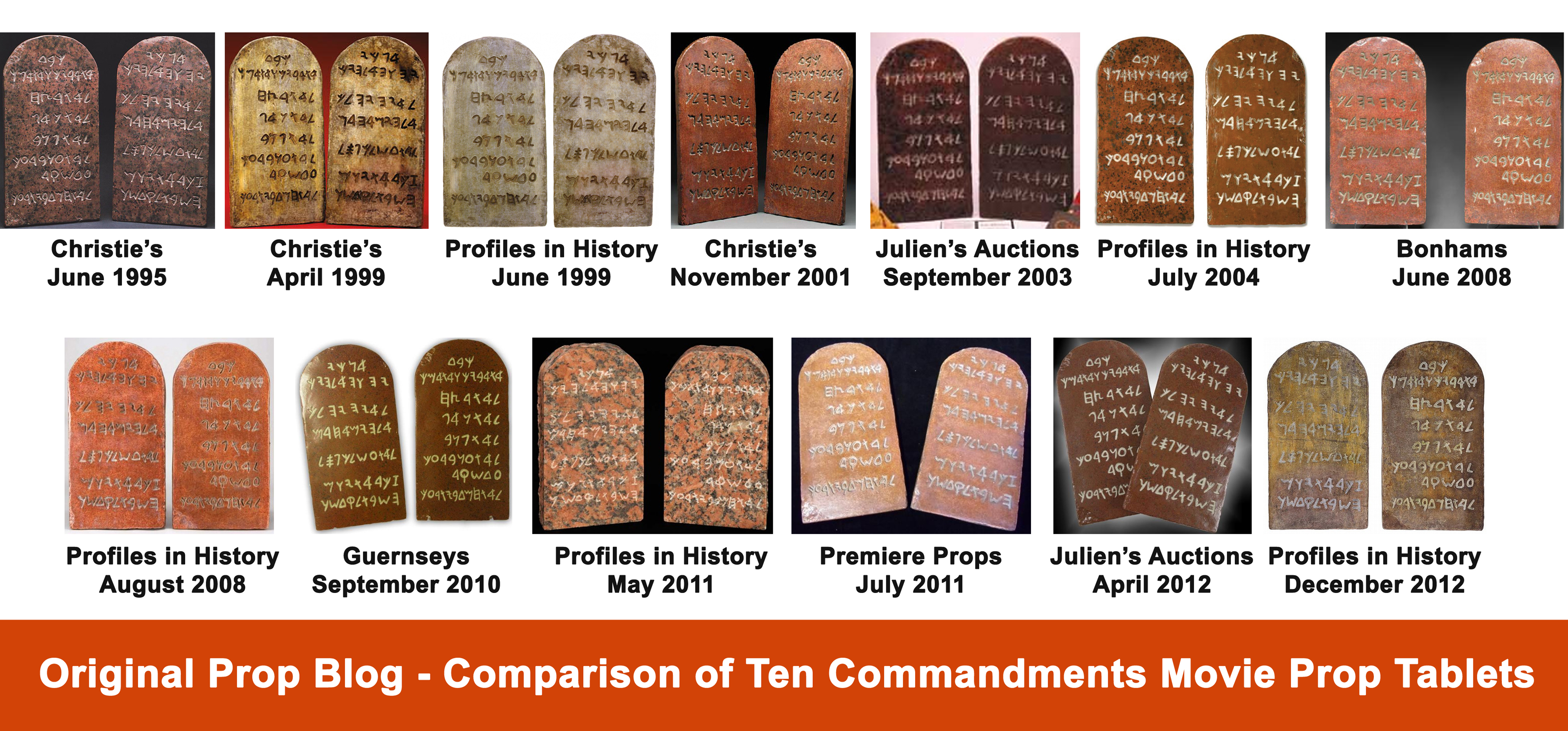 Movie Prop Auction House Ten Commandments Tablets Photo