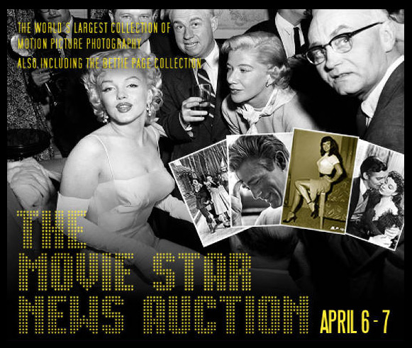 Mid-Hudson Auction Galleries & Guernseys Boasts The World's Largest Collection of Motion Picture Photography To Be Sold April 6-7, Catalog Online