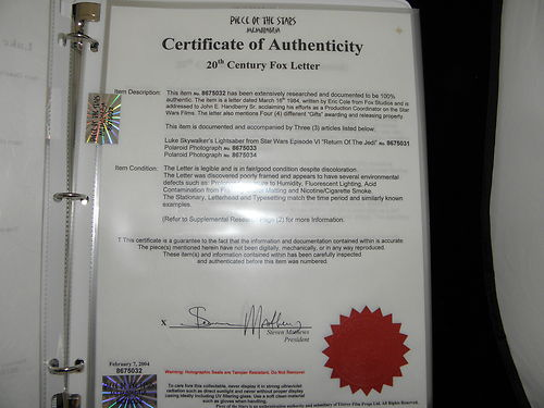 Piece-of-the-Stars-Memorabilia-Elstree-Props-Elstree-Studios-eBay-Auction-Star-Wars-Return-of-the-Jedi-Lightsaber-COA-03