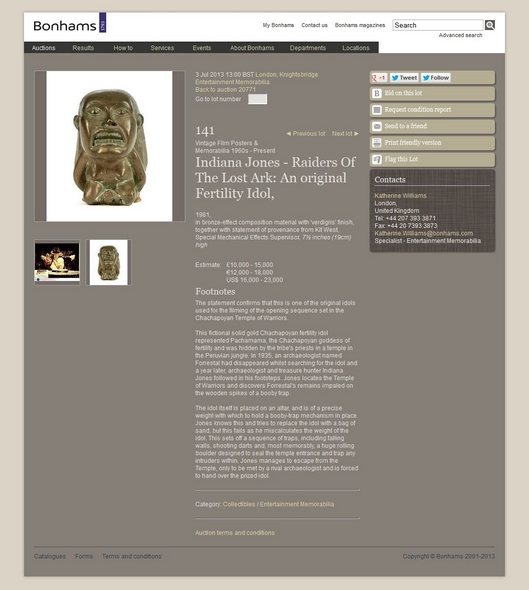 Bonhams-Entertainment-Memorabilia-July-3-2013-Lot-141-Raiders-Of-The-Lost-Ark-Original-Fertility-Idol-Kit-West-Auction-Sale-Archive-RSJ