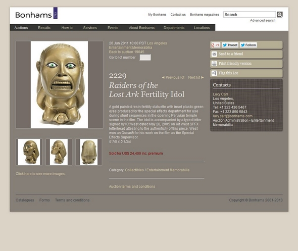 Bonhams-Entertainment-Memorabilia-June-26-2011-Lot-2229-Raiders-Of-The-Lost-Ark-Fertility-Idol-Kit-West-Auction-Sold-Archive-RSJ