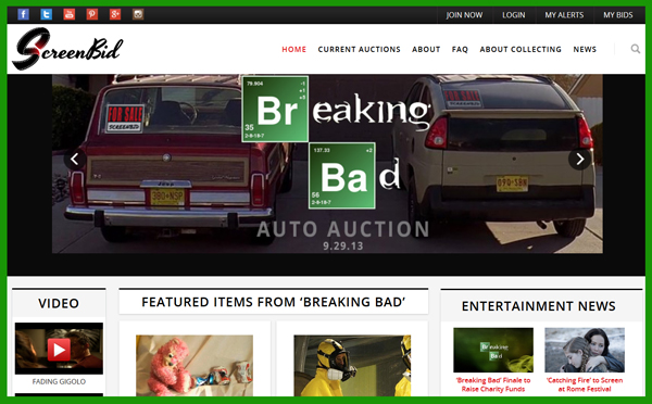 "Newcomer ScreenBid Brings Meth To The Highest Bidder With ""Breaking Bad"" Online TV Prop & Costume Auction"