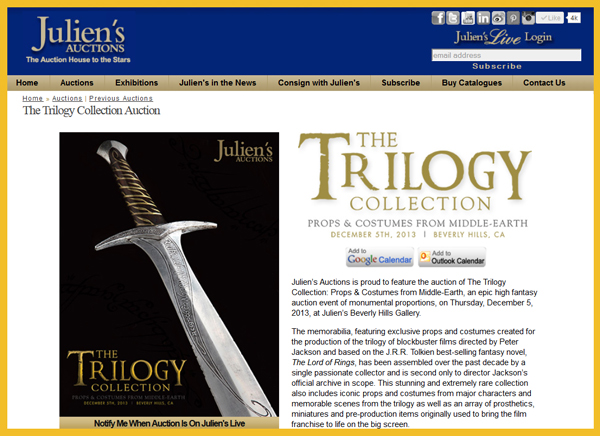 Juliens-Auctions-Trilogy-Collection-Middle-Earth-The-Fellowship-of-the-Ring-Two-Towers-Return-of-the-King-Hollyood-Memorabilia-Peter-Jackson-JRR-Tolkien-Catalog-Download-Portal