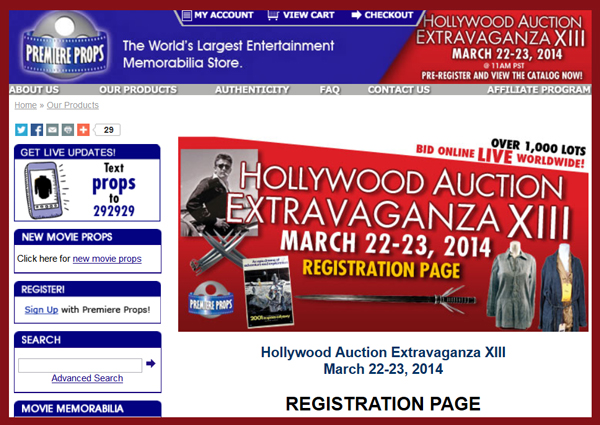 Premiere-Props-Hollwyood-Extravaganza-XIII-Auction-iCollector-Invaluable-Artfact-LiveAuctioneers-TV-Movie-Prop-Portal