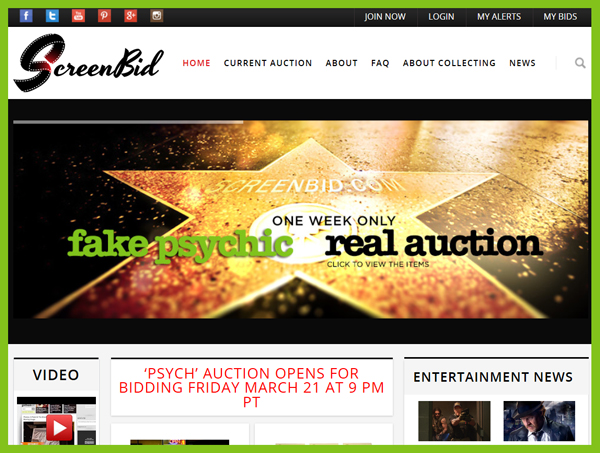 ScreenBid-Psych-Auction-Online-USA-Network-TV-Prop-Costume-Wardrobe-UCP-Sale-Memorabilia-Portal