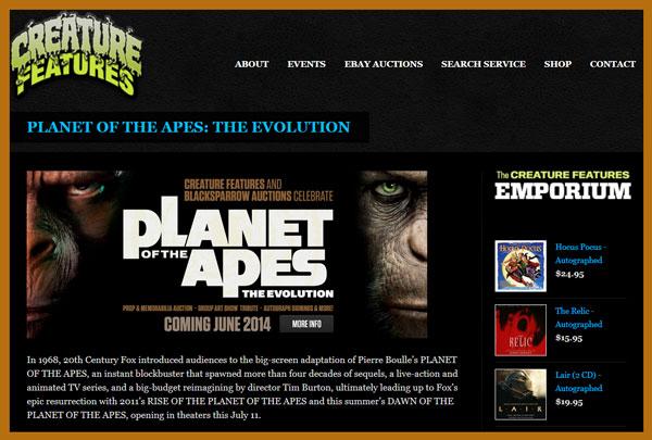 Blacksparrow-Auctions-Creature-Features-Auction-of-the-Apes-Center-for-Great-Apes-Props-Costumes-Creature-Features-Website-Portal