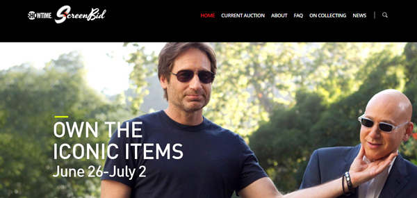 "ScreenBid Hosts Showtime's ""Californication"" Online Prop and Costume Memorabilia Auction June 26th – July 2nd"