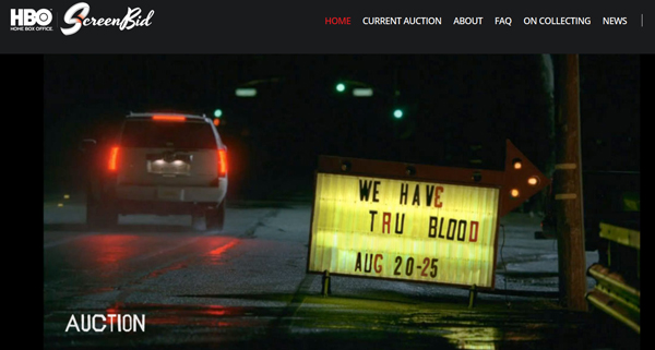 "ScreenBid Holds Online Auction for HBO's ""True Blood"" Prop and Costume Memorabilia Event August 20th-25th"