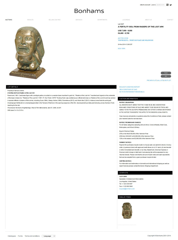 Bonhams-Auction-Fertility-Idol-from-Raiders-of-the-Lost-Ark-Movie-Prop-Hollywood-Memorabilia-Sale-November-2014-Jump
