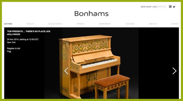 Bonhams-TCM-Theres-No-Place-Like-Hollywood-Auction-November-2014-Catalog-Portal