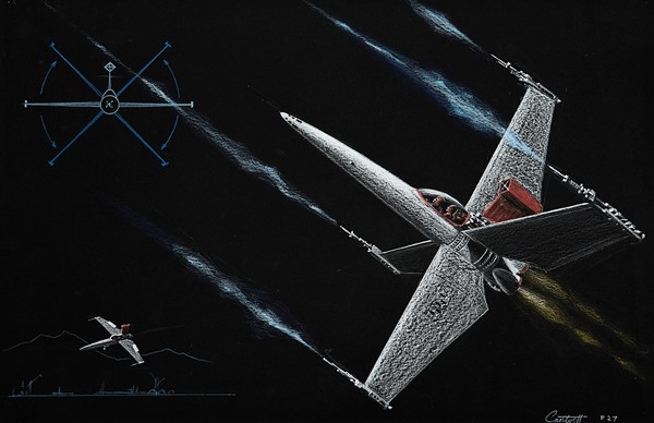 Colin-Cantwell-Concept-Artwork-1974-1975-Juliens-Auction-X-Wing-Figher-Original-Prop-Blog
