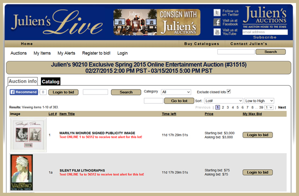 Juliens-Auctions-Exclusive-Spring-2015-Online-Only-Entertainment-Auction-Catalog-Hollywood-Memorabilia-Portal