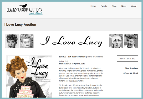 Blacksparrow-Auctions-I-Love-Lucy-Auction-Memorabilia-Online-Sale-Portal