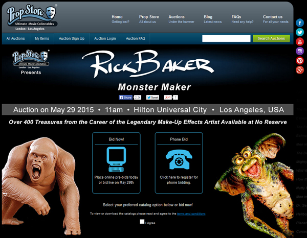 Prop-Store-Rick-Baker-Monster-Maker-Interview-Tested-Movie-Prop-Creature-Auction-Universal-City-May-2015-Catalog-Video-Portal