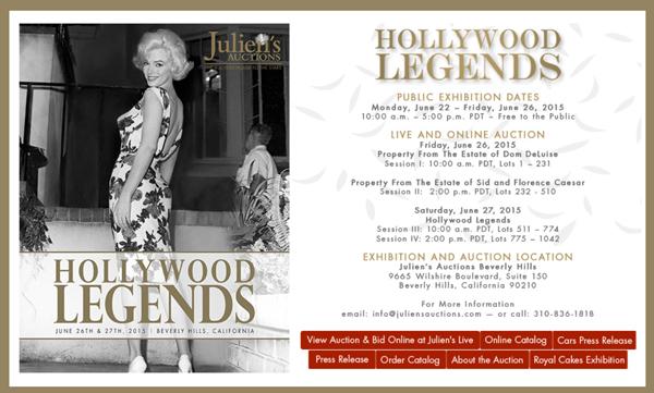 Juliens-Auctions-Hollywood-Legends-June-2015-Dom-Deluise-Sid-Caesar-Estate-Property-Memorabilia-Catalog-Portal