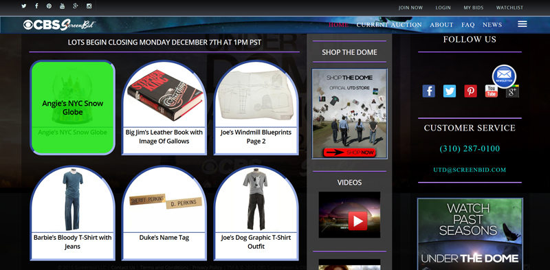 ScreenBid-Under-The-Dome-Auction-CBS-Online-Catalog-Portal