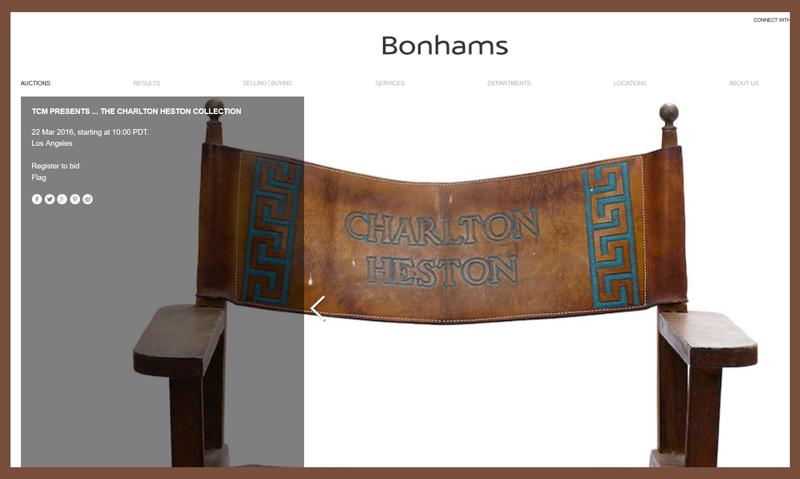 Bonhams-TCM-Charlton-Heston-Collection-TV-Movie-Prop-Auction-2016-Estate-Sale-Catalog-Portal