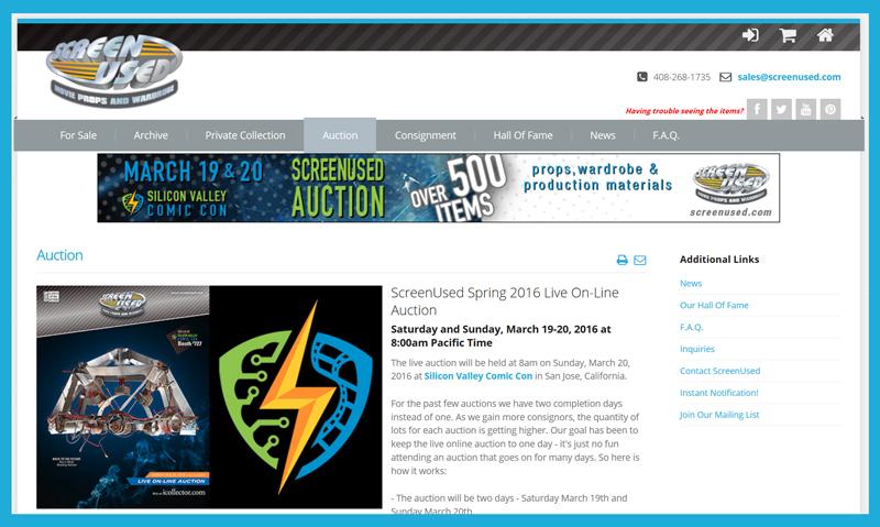 ScreenUsed-TV-Movie-Prop-Auction-Spring-2016-Silicon-Valley-Comic-Con-Catalog-Portal