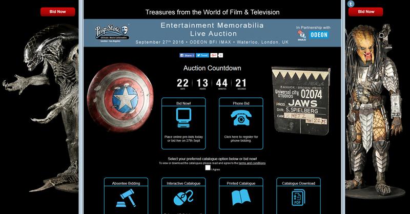 Prop-Store-Live-Entertainment-Memorabilia-Auction-Movie-Prop-Costume-Catalog-Register-Portal