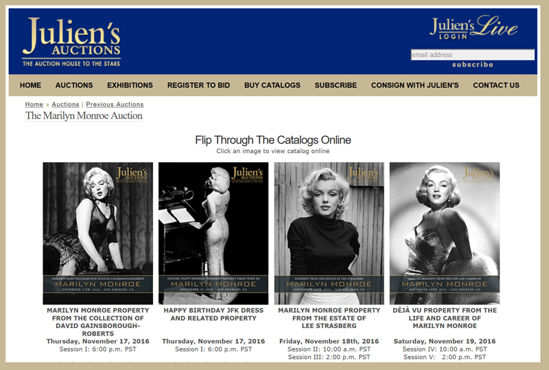 juliens-auctions-2016-marilyn-monroe-collection-auction-catalog-portal