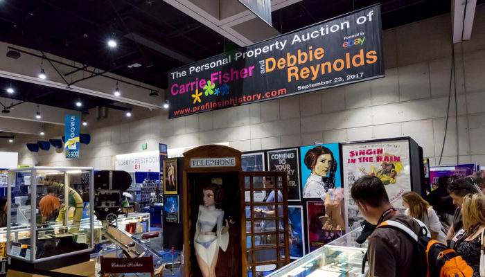 """San Diego Comic-Con 2017: Profiles in History """"The Personal Property Auction of Carrie Fisher and Debbie Reynolds"""" Exhibit"""