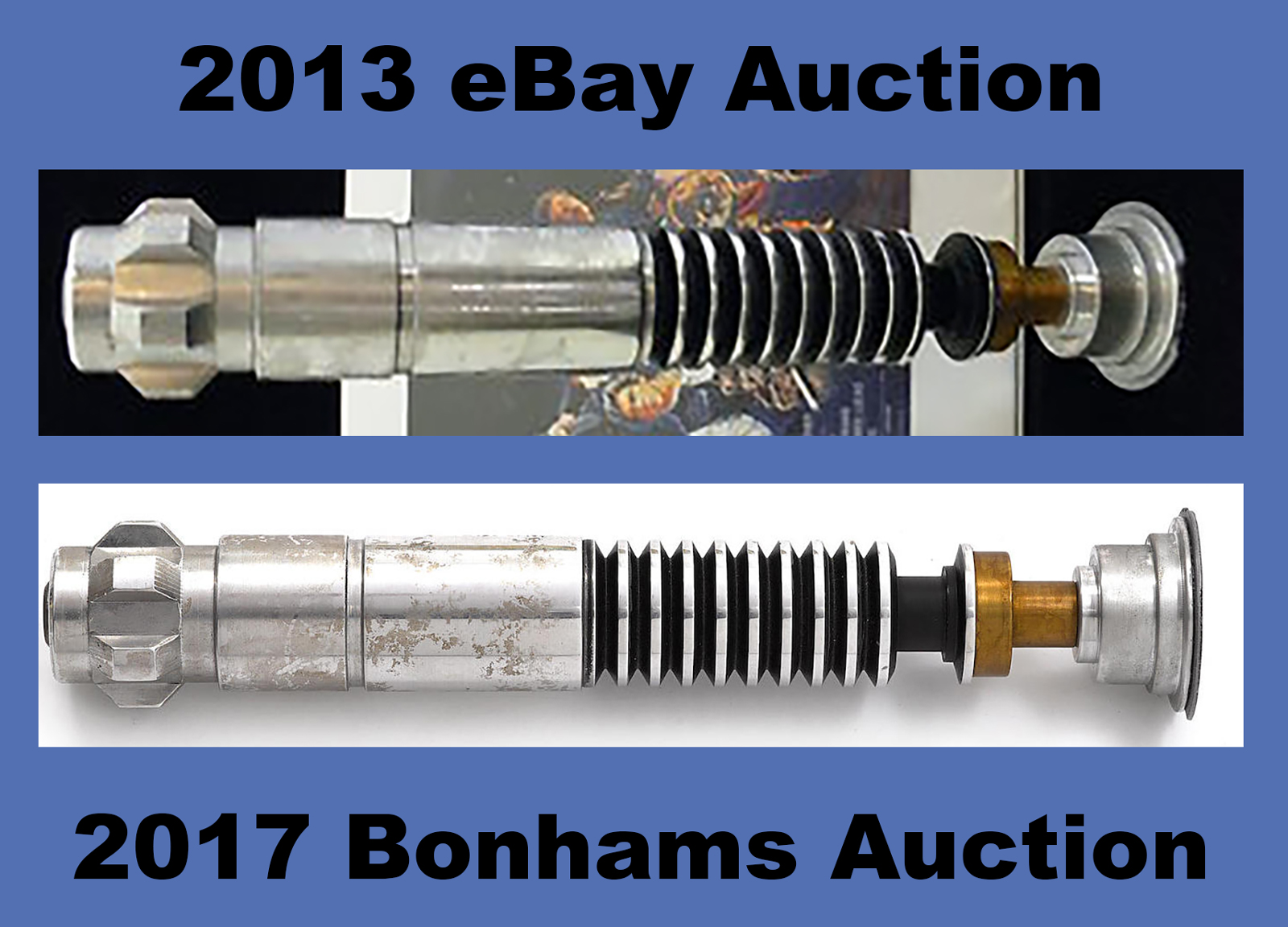 ... EBay Auction And The 2017 Bonhams Auction Include Two Polaroid  Photographs Showing A Disassembled Luke Skywalker U201cReturn Of The  Jediu201d Style Lightsaber ...
