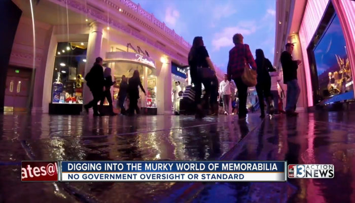 "KTNV13 Call For Action ""Digging Into The Murky World of Memorabilia"" Video Report"